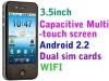 Hot H2000 Capacitive 4 Band Dual Sim Android Smart phone