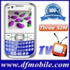 Hot Offer Q9 3 SIM Card GSM Quad Band Mobile Phone