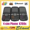 Hot sale 2.4 inch qwerty keyboard four sim four standby tv phones K700s
