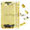 Hot sale luxury Diamond MiddlePlate Bezel Housing Faceplate Pyramid Design for iPhone 4S Gold Color