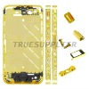 Hot sale luxury Diamond MiddlePlate Bezel Housing Faceplate Wave Design for iPhone 4S Gold Color