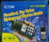 ICOM Waterproof 2 way radio, IC-M32, VHF