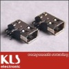 IEEE 1394 female DIP angled side entry 6 port