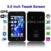 J1000 Black + GPS, 5.0 inch Touch Screen Mobile Phone, Support FM Transmitter function, Analog TV (PAL/NTSC/SECAM), Wifi JAVA Bl