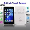 J1000 White + GPS, 5.0 inch Touch Screen Mobile Phone, Support FM Transmitter function, Analog TV (PAL/NTSC/SECAM), Wifi JAVA Bl