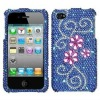 JUICY FLOWER Diamante Bling Hard Phone Cover Case for APPLE IPHONE 4 4S