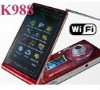 "K988 3.0"" Touch Screen Quad band dual sim card TV Wifi cell phone with ZOOM digital camera"