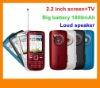 Loud Speaker Dual Sim Cell Phone , TV Mobile Phone