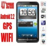 "Low Price 4.3"" GPS TV WiFi Unlocked GSM Quad-Band TouchScreen Dual SIM Card Mobile Phone"