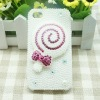 Luxury stick sweet jeweled cell phone cases with Shinning Vitreous Diamond for iphone4&4s