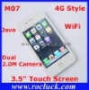 M07 4G Style WiFi Cellphone Quad Band with Dual 2.0M Camera Support Greek Polish Hebrew
