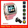 MQ008-Pink watch mobile phone with bluetooth function