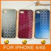 Meng Te aluminum shell plating border after China's window stereoscopic pattern case for iPhone 4G 4s ,LF-0442