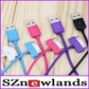 New Arrival High Quality Sync Nano USB Data cable For iPad 1 2 iPod iPhone 4 Touch Bright multicolor Colorful