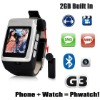 New!Watch mobile phone detachable Bluetooth device Quandband wrist phone G3