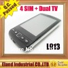 New arrive 4 sim card cell phone ISDB-T TV+Analog TV mobile L913