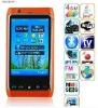New four sim mobile phone ISDB-T Digital tv and Analog tv wifi gps unlocked phones FN8