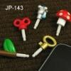Newest minipol ear caps for iphone 4 &ipad hole 3.5mm