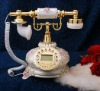 Old style antique telephone with resin material