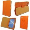 Orange Leather case for Samsung Galaxy Tab GT-P1000