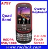 Original A797 (AT&T) 3G Cellphone Qwerty Keyboard 2.8 inch touch screen Phone