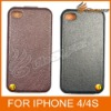 Original HOCAR Cow Leather Flip Case For iphone 4 4s &LF-0459