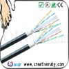 Outdoor cat6 FTP cable with steel messager