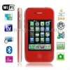 P5 Red, Analog TV (PAL/NTSC), 90 degree menu rotation, Wifi JAVA Bluetooth FM Function Touch Screen Mobile Phone, Slip-operation