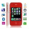 P5000+ Red, Analog TV (PAL/NTSC), JAVA Bluetooth FM Function Touch Screen Mobile Phone, Slip-operation can change the menu (6 pa