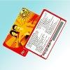 PVC scratch phone card