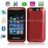 Phone 5, JAVA & Bluetooth FM function Touch Mobile Phone, Slip-operation can change the menu (3 pages of menus), Quad band, Netw