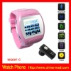 Pink Colour Camera Mobile Phone Watch