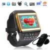 Q6 2MP quad band watch mobile phone,1GB&Bluetooth headset