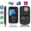 Q9 Black, 3 Sim cards 3 standby, Dual Cameras, QWERTY Keyboard, Analog TV (PAL/NTSC), Bluetooth FM function Mobile Phone, Quad b