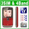 QWERTY 3 SIM Triple 3 Standby TV Cell phone Unlock