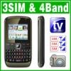 QWERTY 3 SIM Triple 3 Standby TV Mobile phone Unlock