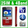 QWERTY Dual SIM Dual Standby TV FM Mobile phone Unlock