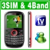 QWERTY Triple Sim Triple Standby 3 Sim TV Phone Unlock
