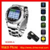 Quad Band Touch Screen Mobile Phone Watch With FM+Bluetooth