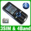 Quad-band Triple Sim Triple Standby 3 Sim Cell Phone