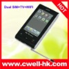 Quad-band dual SIM dual standby TV mobile phone