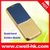 Quad-band golden mobile phone