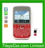 Quadband Qwerty mobile phone with 4 SIM Card Slots Bluetooth Full keyboard cell phone