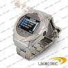 Quadband Stainless Steel watch cellphone W360