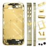Rhinestones For iPhone 4S Middle Metal Plate Faceplates Heart Shape for Couples- Gold