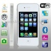 S9 White, Analog TV (SECAM/PAL/NTSC), Wifi JAVA Bluetooth FM Function 3.5 inch Touch Screen Mobile Phone, Slip-operation can cha