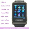 S9110 1.8 inch touch screen compass leather wristband 2011 watch phone