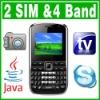 SIM Dual Standby Java TV QWERTY Unlock Cell Phone