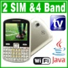 SIM Dual Standby Java TV WIFI QWERTY Mobile phone
