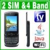 SIM Dual Standby Java TV WIFI QWERTY Slide Phone
